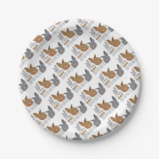 ive got buns (cute bunny rabbits) 7 inch paper plate