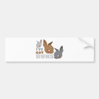 ive got buns (cute bunny rabbits) bumper sticker