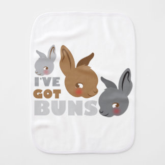 ive got buns (cute bunny rabbits) burp cloth