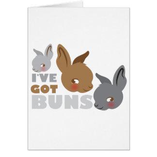 ive got buns (cute bunny rabbits) card