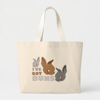 ive got buns (cute bunny rabbits) large tote bag