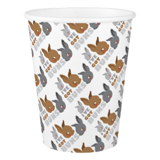 ive got buns (cute bunny rabbits) paper cup