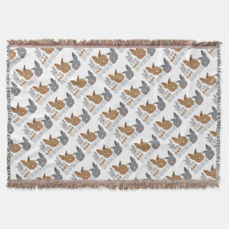 ive got buns (cute bunny rabbits) throw blanket