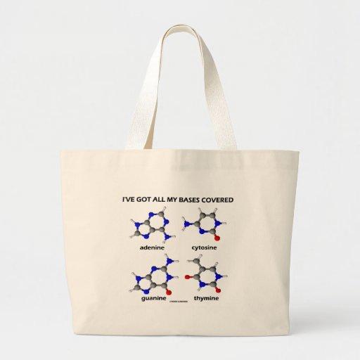 I've Got My Bases Covered (Chemistry DNA Bases) Canvas Bag