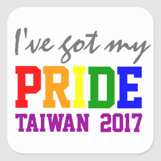 I've Got my Pride Taiwan Gay Marriage Pride Square Sticker