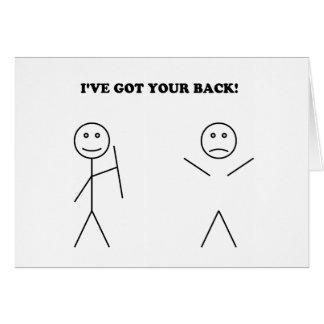 I've got your back card