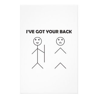 I've got your back-stick men stationery