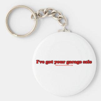 I've Got Your Garage Sale Basic Round Button Key Ring