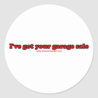 I've Got Your Garage Sale Stickers