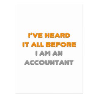 I've Heard It All Before .. Accountant Postcard