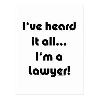 I've heard it...Lawyer Postcard
