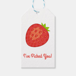"""I've Picked You!"" Strawberry Gift Tags"