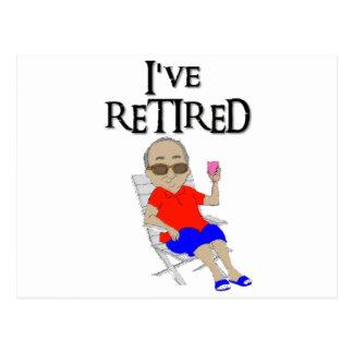 I've retired postcard