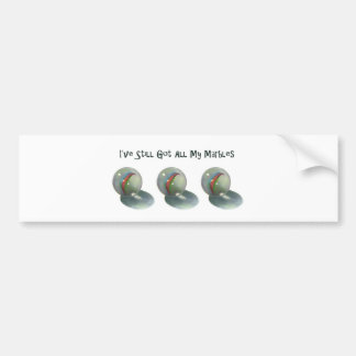 I've Still Got All My Marbles: Color Pencil Art Bumper Sticker