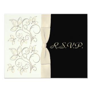 Ivory and Black R.S.V.P. Card Alternate