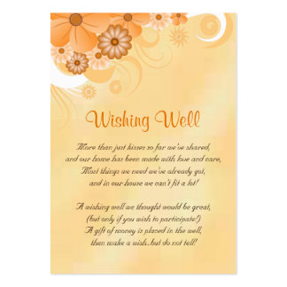 Ivory and Gold Floral Wedding Wishing Well Cards Pack Of Chubby Business Cards