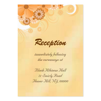 Ivory and Gold Wedding Reception Enclosure Cards Pack Of Chubby Business Cards