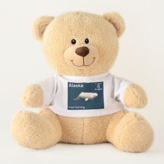 Ivory Beluga Whale - Alaska Postage Teddy Bear