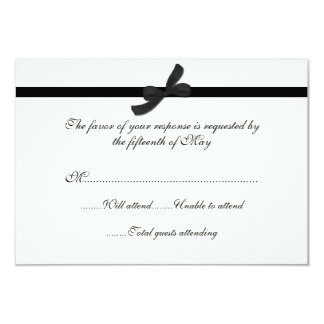 Ivory & Black All Purpose Wedding Response Card 9 Cm X 13 Cm Invitation Card