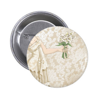Ivory Bride 6 Cm Round Badge