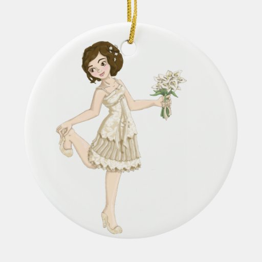 Ivory Bride Ornaments