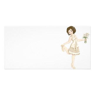 Ivory Bride Photo Greeting Card