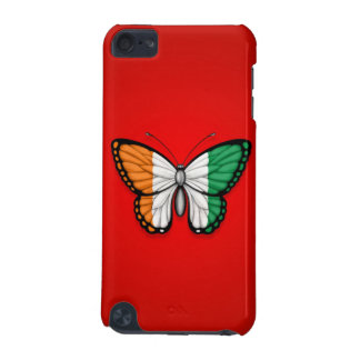 Ivory Coast Butterfly Flag on Red iPod Touch 5G Cover