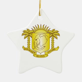 Ivory Coast Coat of Arms Ceramic Ornament