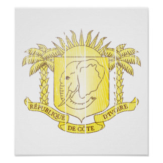 Ivory Coast Coat Of Arms Poster