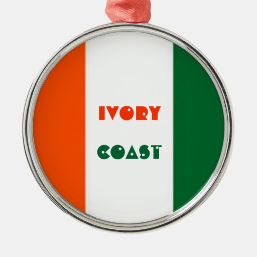 Ivory coast christmas tree ornament