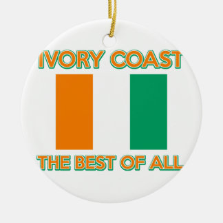 Ivory Coast design Christmas Tree Ornaments