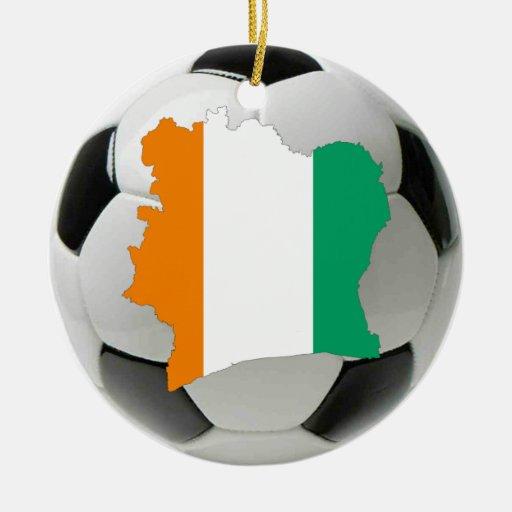 Ivory Coast football soccer ornament