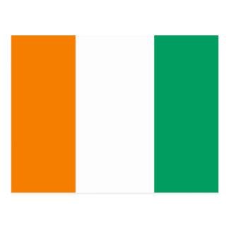 Ivory Coast National World Flag Postcard