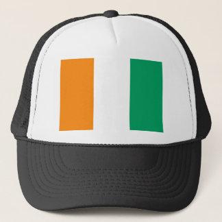 Ivory Coast National World Flag Trucker Hat