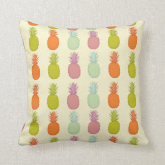 Ivory Colorful Tropical Pineapple Pillow