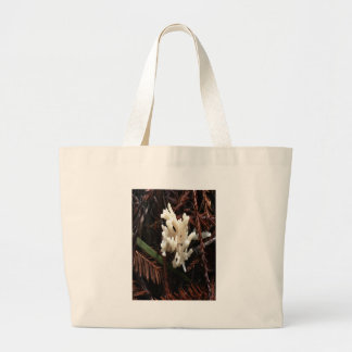 Ivory Coral Fungus Large Tote Bag