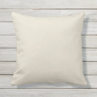 Ivory Cream Solid Accent Cushion