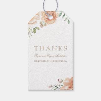 Ivory Cream Watercolor Flowers Elegant Boho Gift Tags