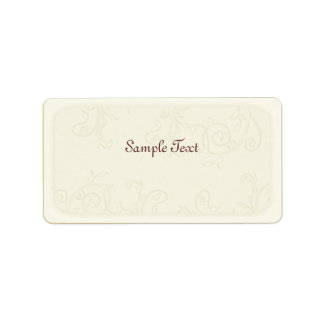 Ivory Faux Embossed Swirls Mailing Label