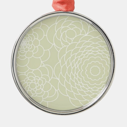 Ivory Floral Design Modern Abstract Flowers Ornament