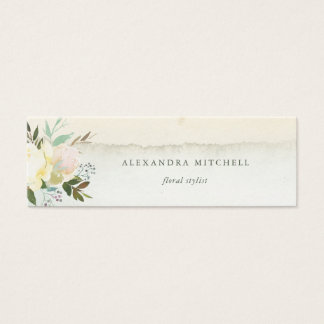 Ivory Floral | Soft Watercolor Mini Business Card