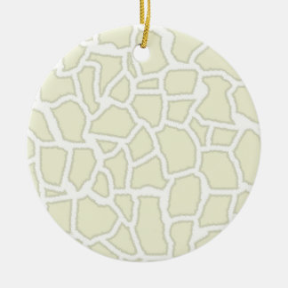 Ivory Giraffe Animal Print Christmas Tree Ornaments