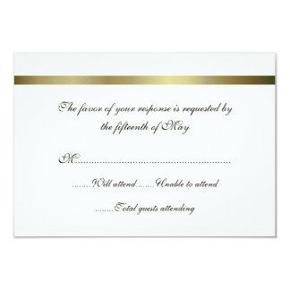 Ivory & Gold All Purpose Wedding Response Card 9 Cm X 13 Cm Invitation Card