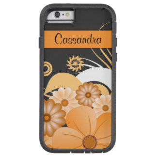 Ivory Gold Hibiscus Floral iPhone 6 6S Xtreme Case