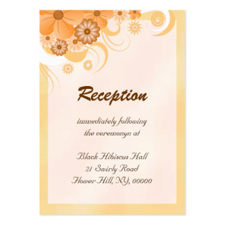 Ivory Gold Peach Wedding Reception Enclosure Cards Pack Of Chubby Business Cards