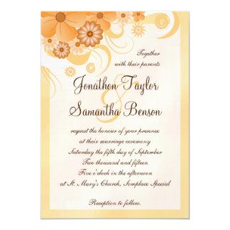 "Ivory Hibiscus Floral Custom Wedding Invitation 5"" X 7"" Invitation Card"