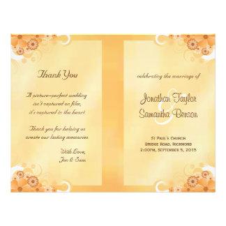 Ivory Hibiscus Floral Wedding Program Templates 21.5 Cm X 28 Cm Flyer