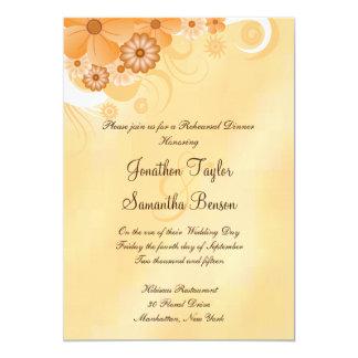 "Ivory Hibiscus Wedding Rehearsal Dinner Invites 5"" X 7"" Invitation Card"