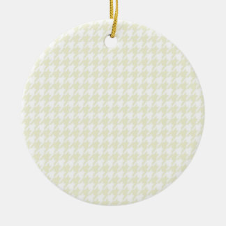 Ivory Houndstooth Ornament