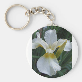 Ivory Iris Basic Round Button Key Ring